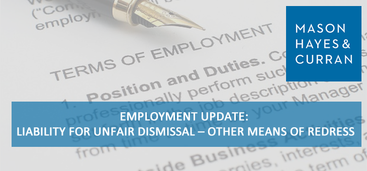 Employment Update: Liability for Unfair Dismissal – Other Means of Redress